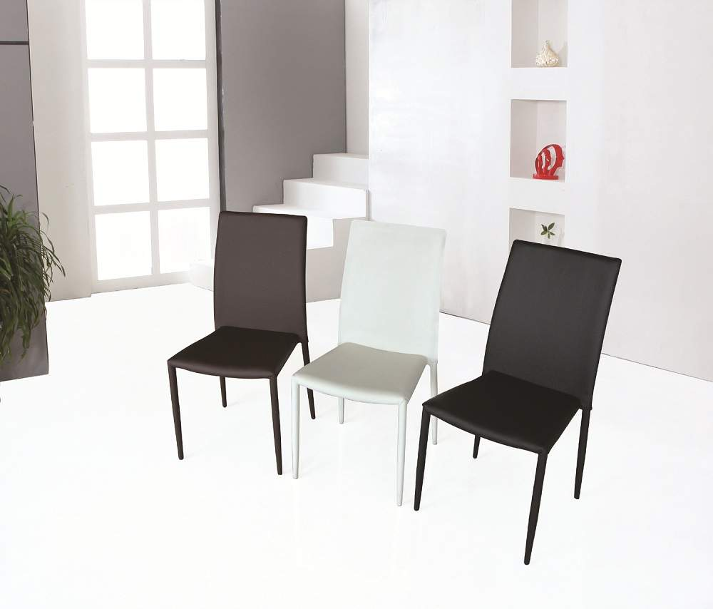 Leather Dining Room Chairs Ultra Contemporary Dining Room Chair In White Black Or Brown Leather