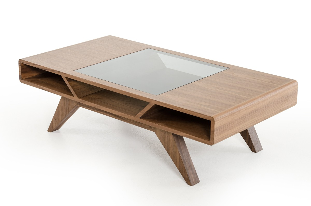 Coffee Tables Images Modern Walnut Coffee Table With Tampered Glass