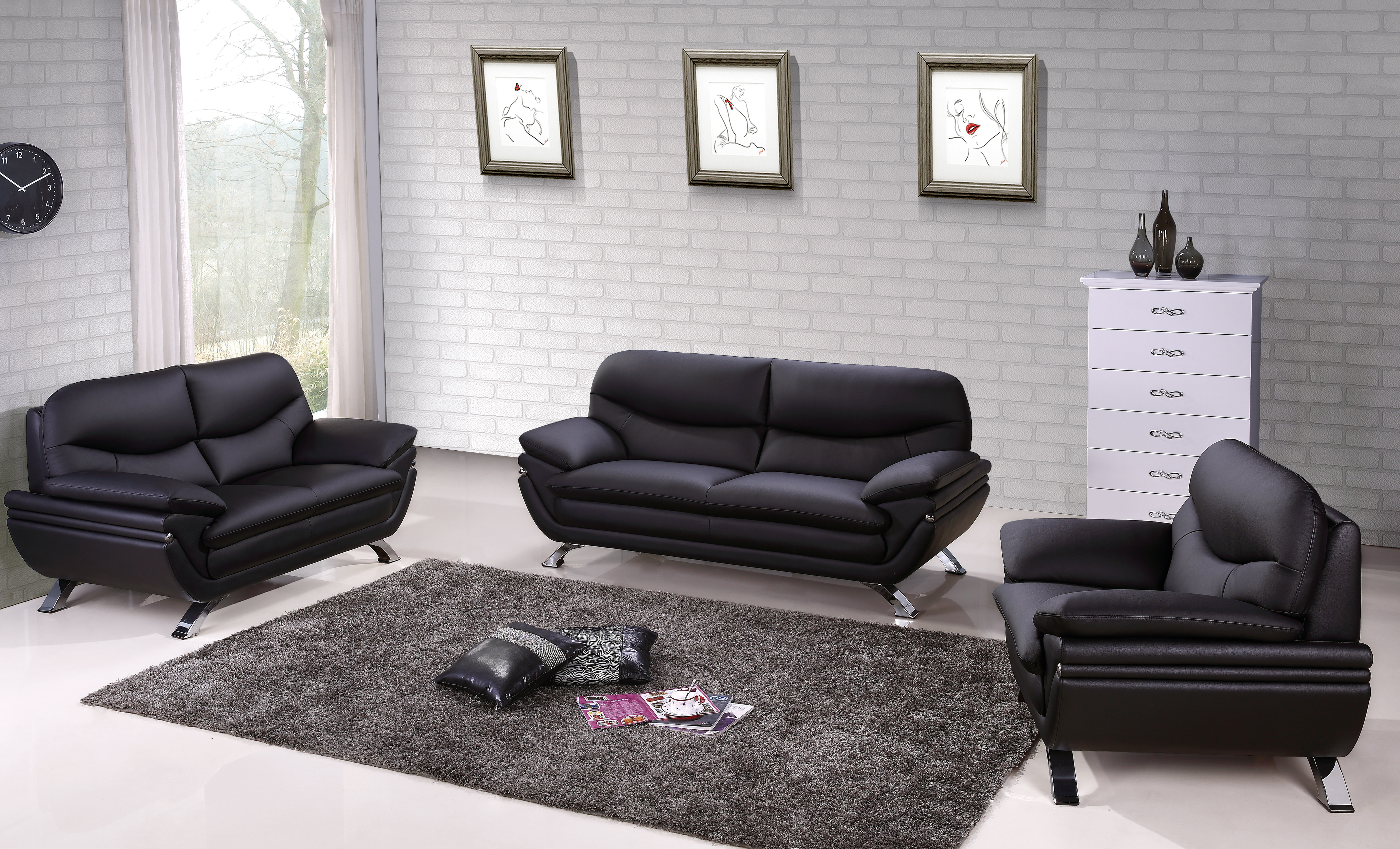 Living Room Sofas Sets Harmony Ying Yang Contemporary Leather Living Room Sofa Set