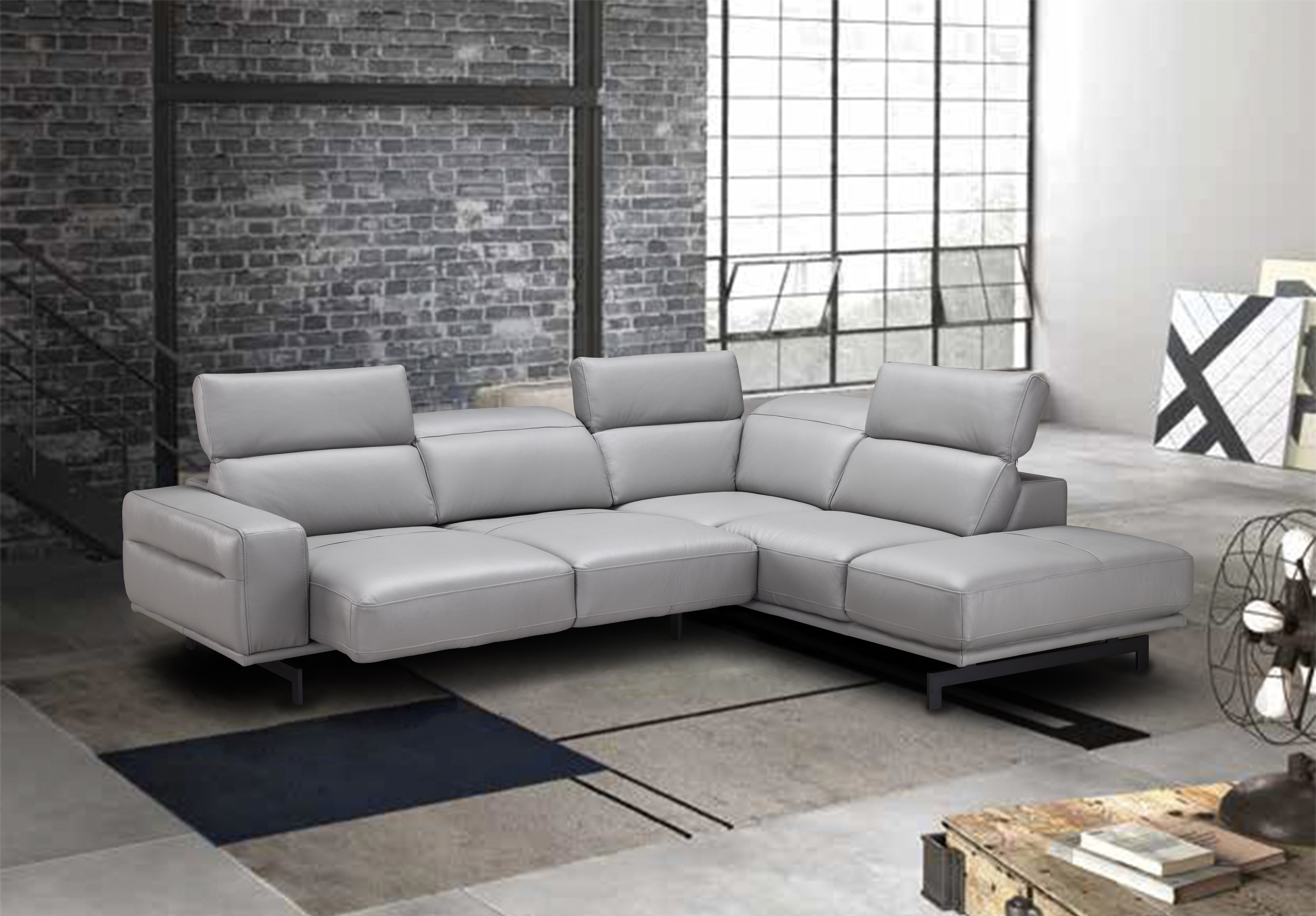 Sofas For Sale Houston Adjustable Advanced Italian Top Grain Leather Sectional
