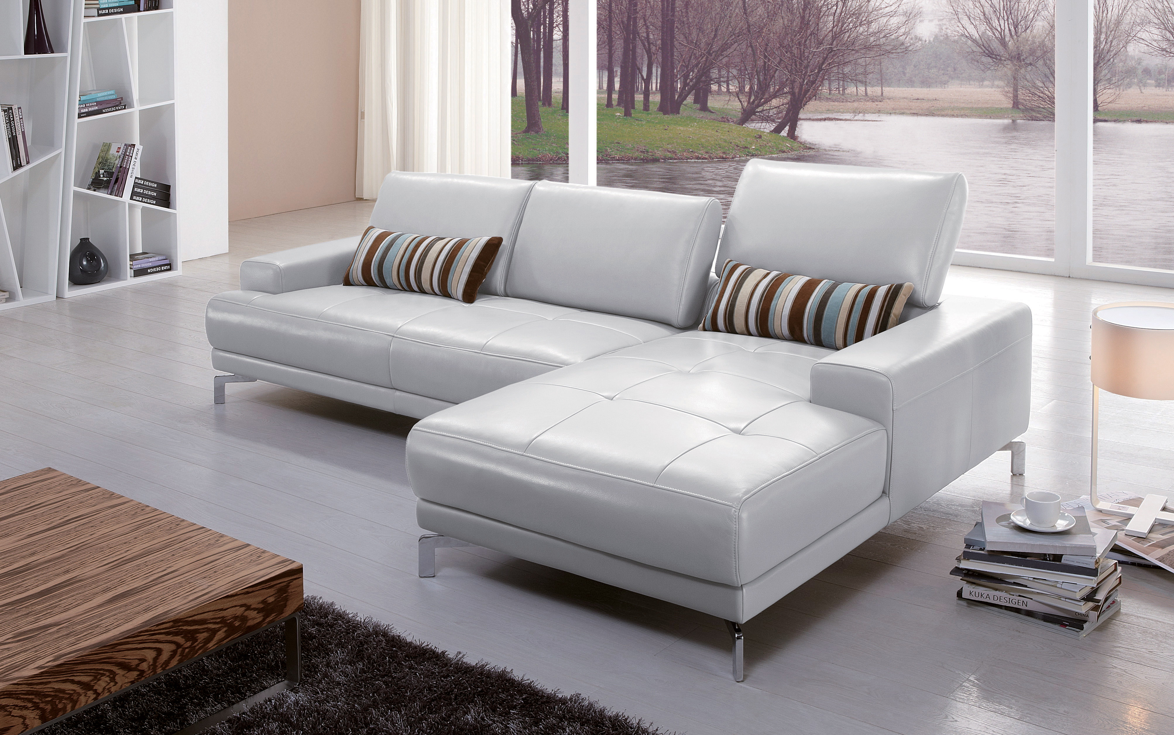 Los Sofas High Class Italian Top Grain Leather Sectional Sofa