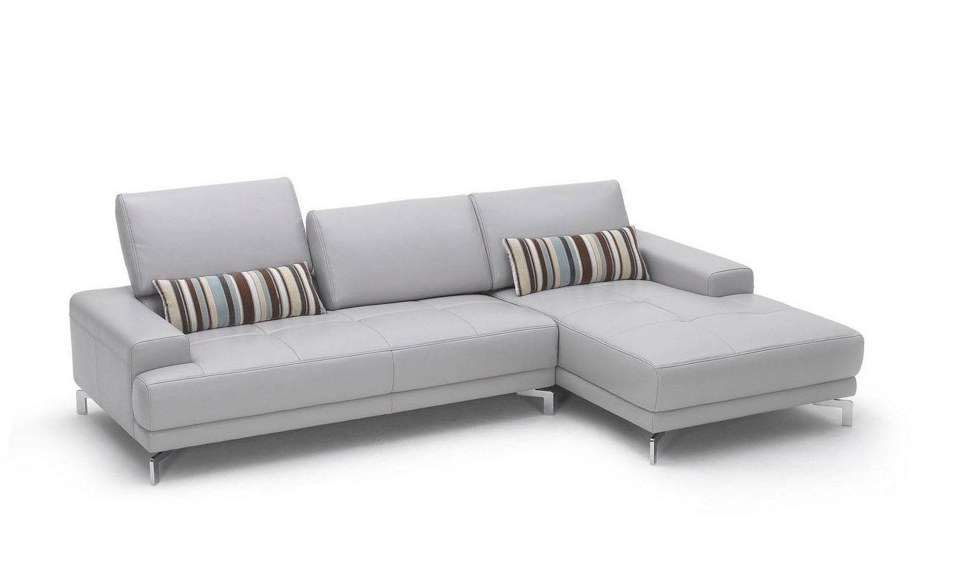 Sleek Leather Couch Sleek White Contemporary Sectional Sofa With Side Pouches