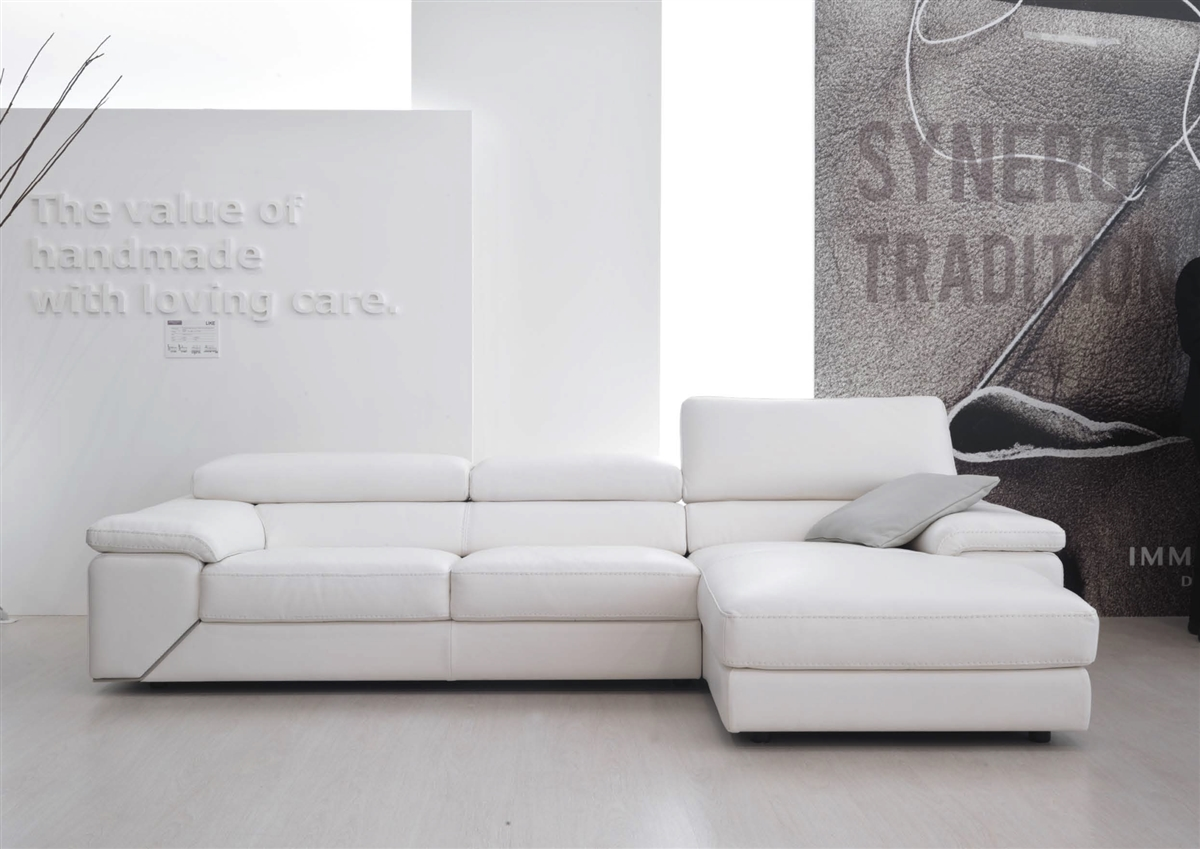 Industria Divani E Poltrone Graceful All Italian Leather Sectional Sofa Oklahoma