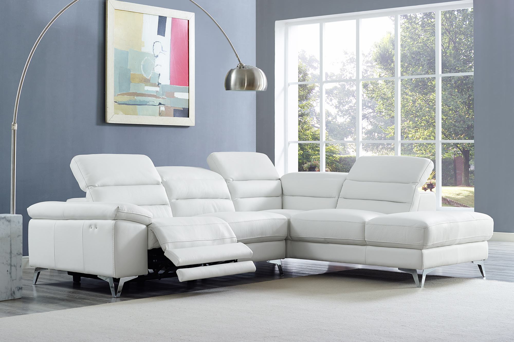 Leather Sectional Sofa Recliner Graceful Italian Leather Sectional
