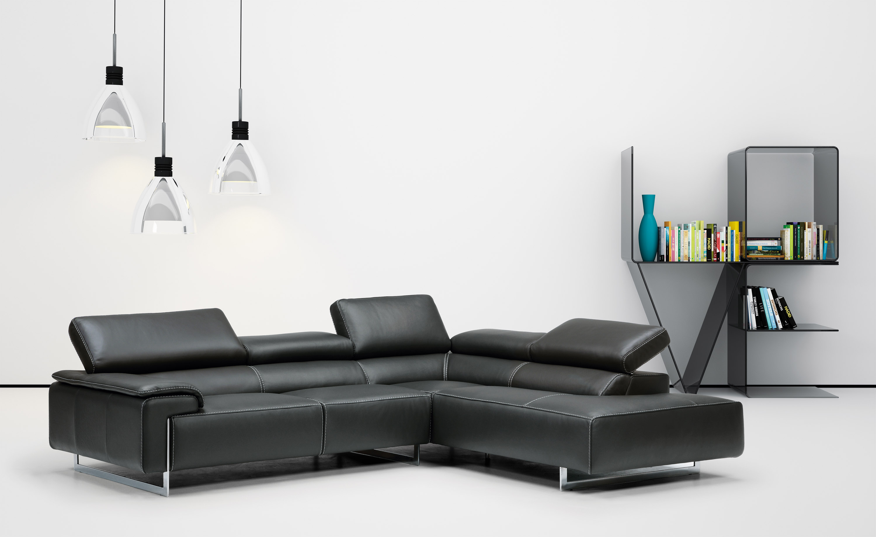 Industria Divani E Poltrone Luxurious Full Leather Sectional With Chaise Orlando