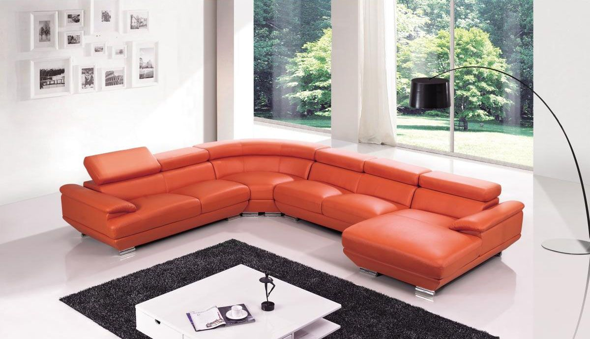 Modern Furniture Johannesburg Exclusive Tufted Curved Sectional Sofa In Leather