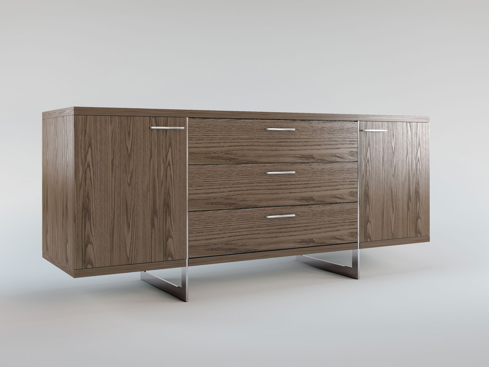 Sideboard Modern Design Contemporary Sideboard Buffet With Three Storage Drawers