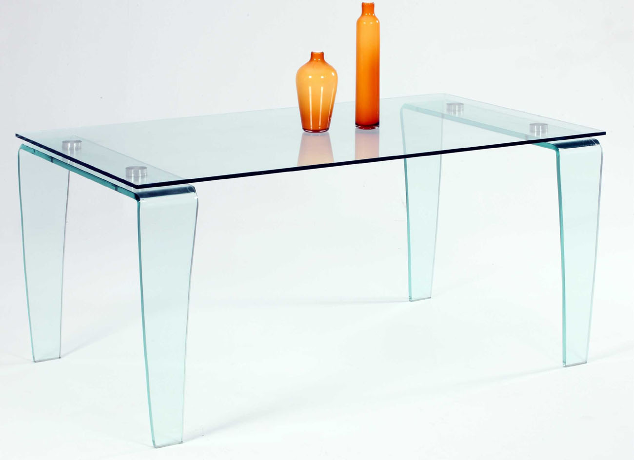 Modern Glass Table Contemporary All Glass Dining Table With Clear Top And
