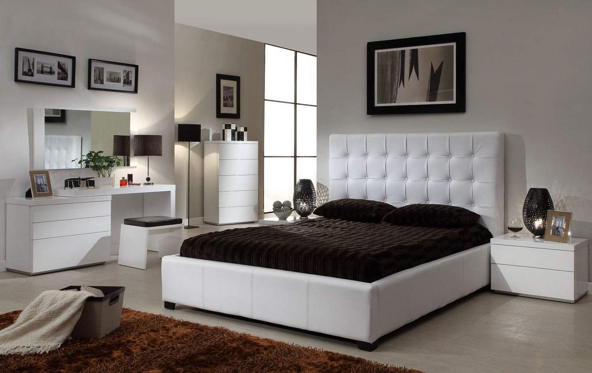Bedroom Furniture Online Quality Leather Designer Furniture Collection With Extra Storage
