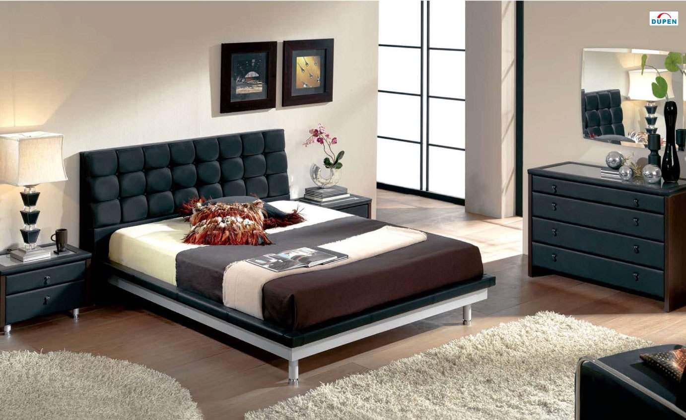 Unique Leather Design Bedroom Furniture With Padded Headboard Riverside California Esf Toledo