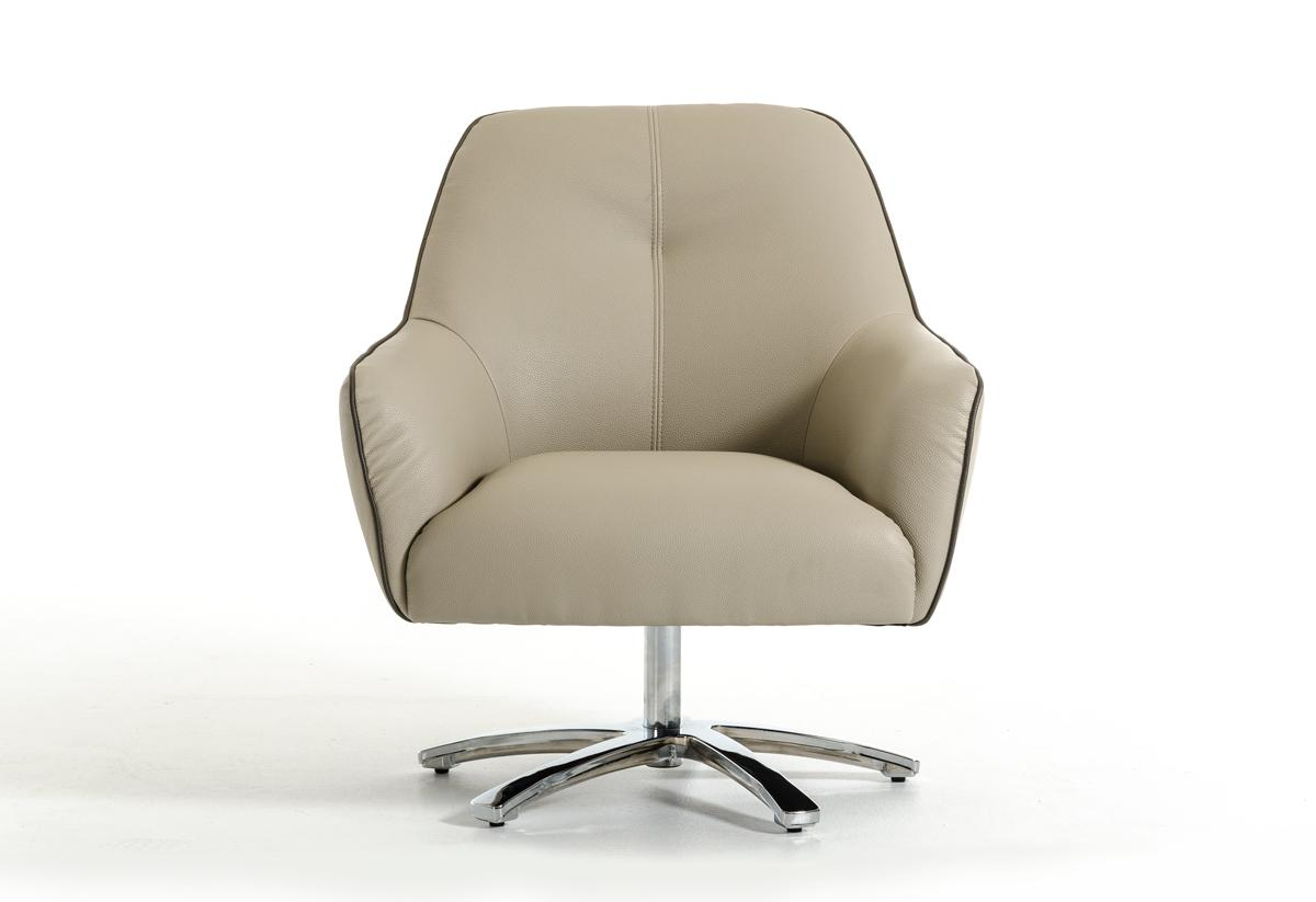 Stylish Chairs Contemporary Light Grey And Dark Grey Eco Leather Lounge