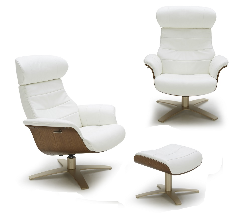 Modern Lounge Futuristic Modern Leather Upholstered Swivel Lounge Chair With Color Options