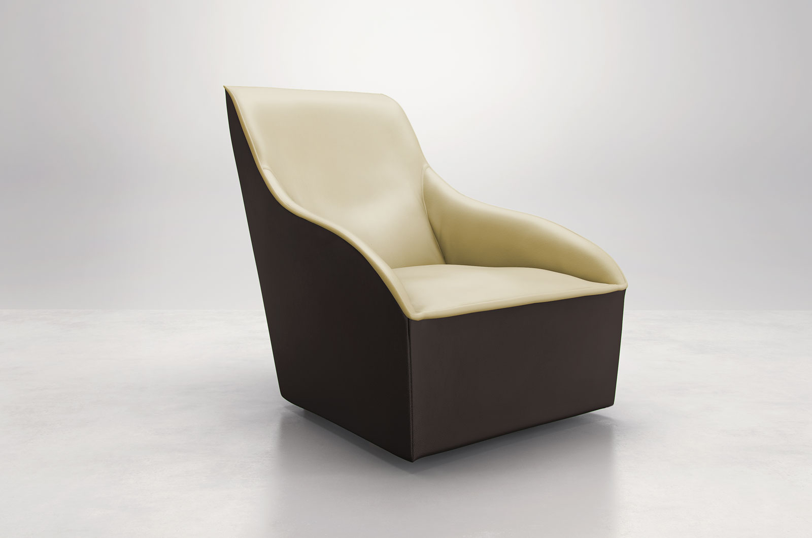 Comfy Room Chairs Comfy Curvy Contemporary Leather Arm Accent Lounge Chair