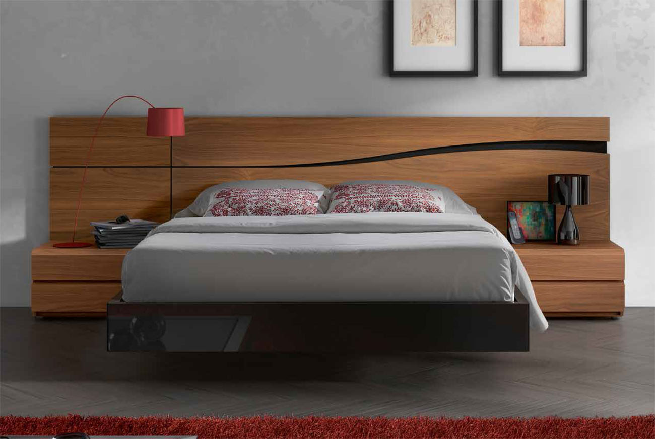 Beds And Beds Lacquered Made In Spain Wood High End Platform Bed With Designer Touch