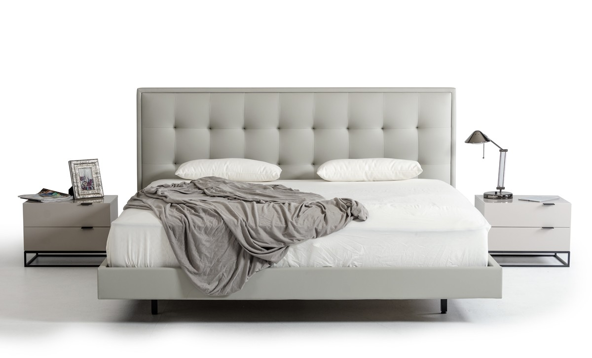 Leather Bed Exclusive Leather Luxury Platform Bed