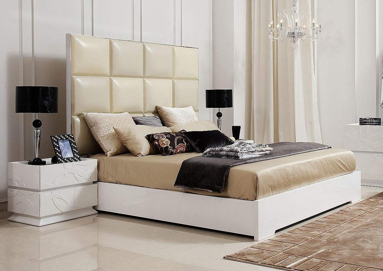 Leather Bed Made In Italy Leather Luxury Platform Bed