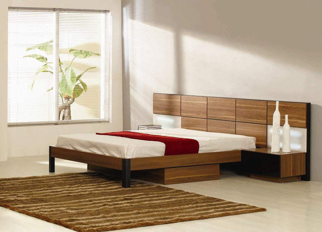 Bed End Storage Italian Quality Wood High End Platform Bed With Extra Storage