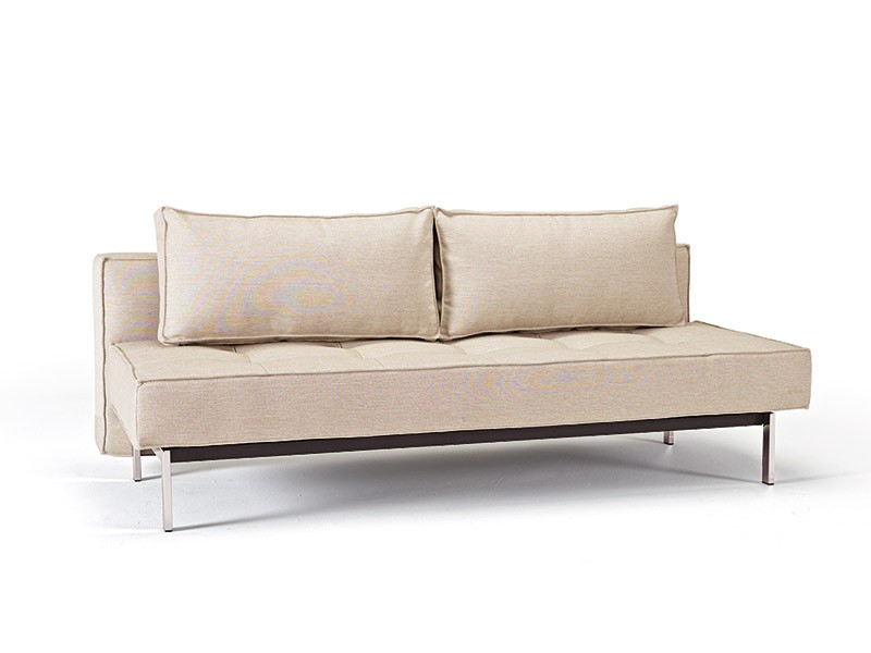 Küchensofa Domicil Contemporary Beige Fabric Upholstered Deluxe Sofa Bed