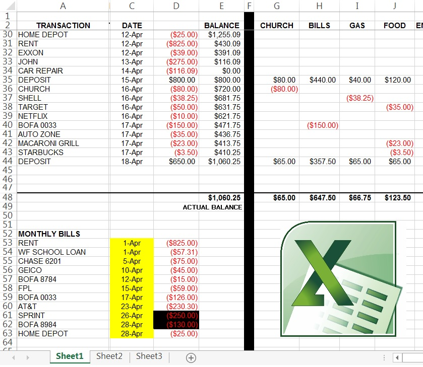 Microsoft Excel Tutorial  Custom Budget Spreadsheet with Free Video