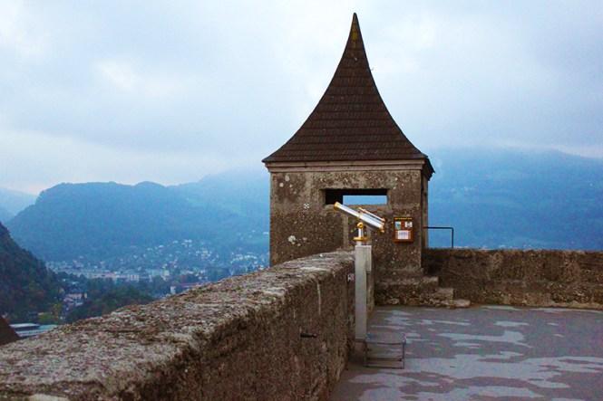 Salzburg castle: vista de uma road trip