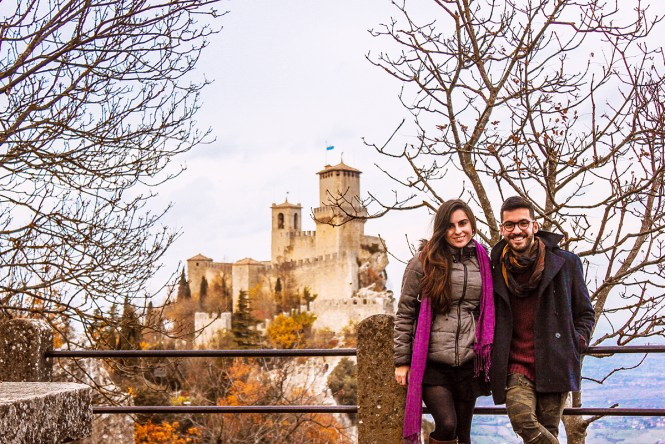 Vista castelo San Marino