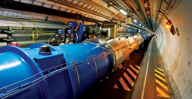 Una sección del LHC. Imagen vía CERN.