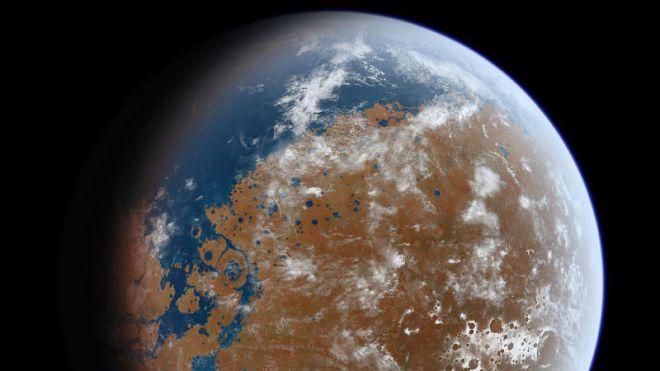 Así podría haberse visto Marte en el pasado. Vía NASA/JPL.
