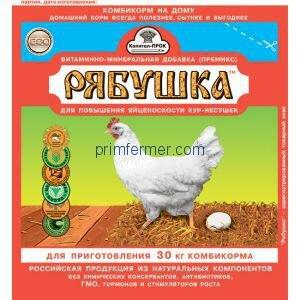 Премикс Рябушка для кур на 30 кг корма, 150 гр