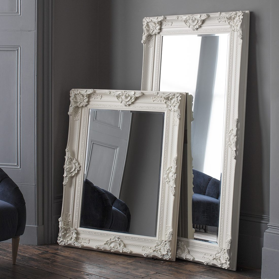 White Floor Mirror Ivory Ornate Wall Floor Mirror