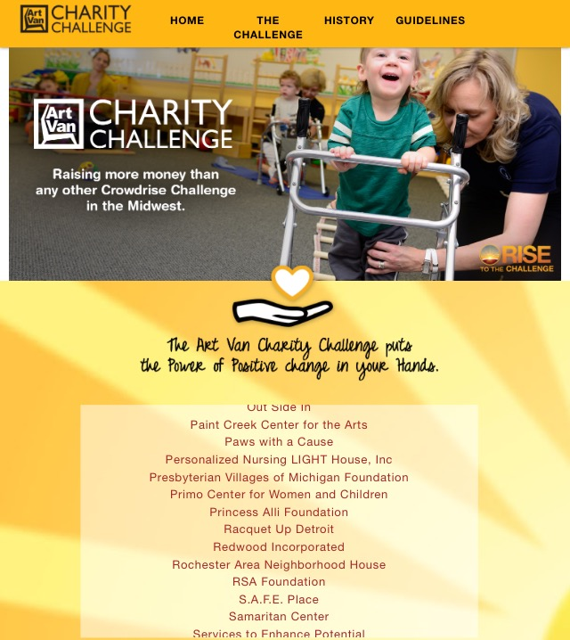 2016 Art Van Furniture Charity Challenge