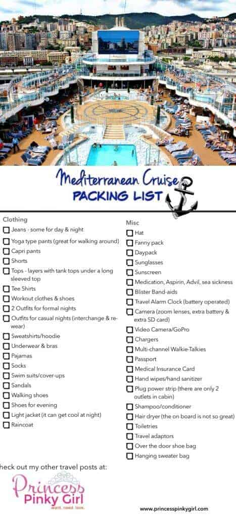 Mediterranean Cruise Packing List  10 Things I Couldn\u0027t Live - 7 day cruise packing list