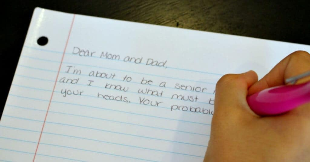 An Open Letter To Our Parents From Your High School Senior