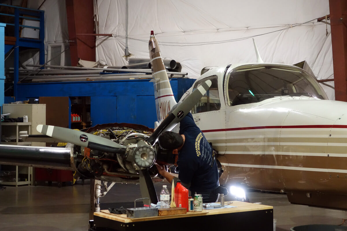 Airplane Maintenance Maintenance With Pac Princeton Airport Learn To Fly Here