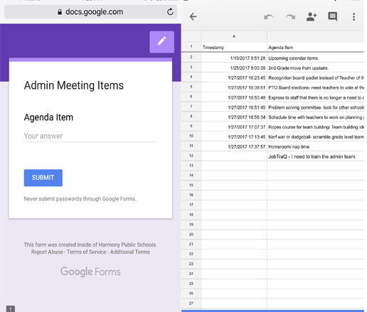 Google Forms Tells Me What to do Everyday Principal In Progress