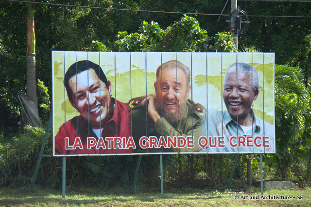 """See on the road to Bay of Pigs """"The Big Homeland that Grows"""""""