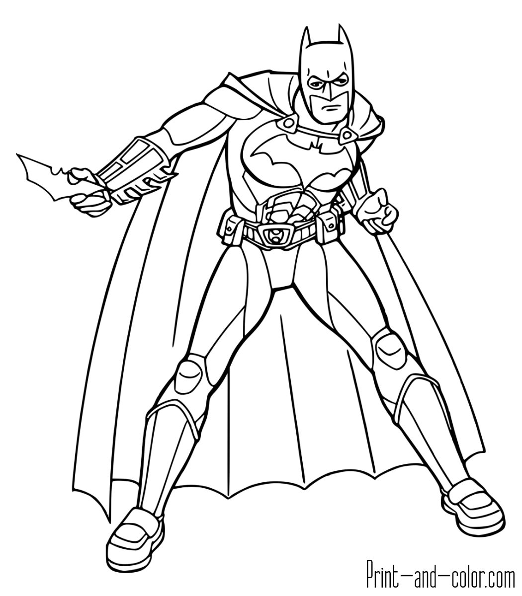 Batman The Dark Knight Coloring Page Download
