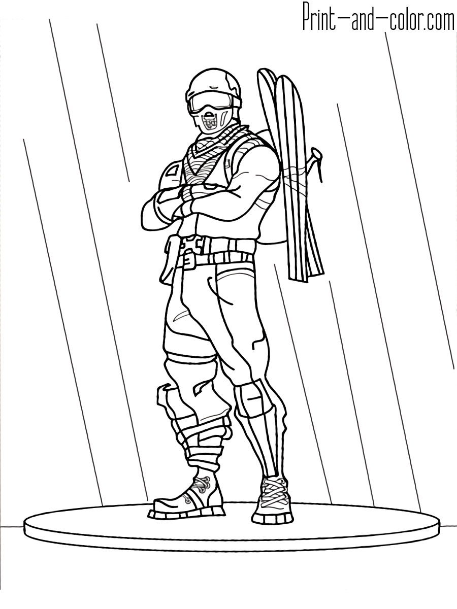 Fortnite coloring pages for Fortnite disegni da colorare