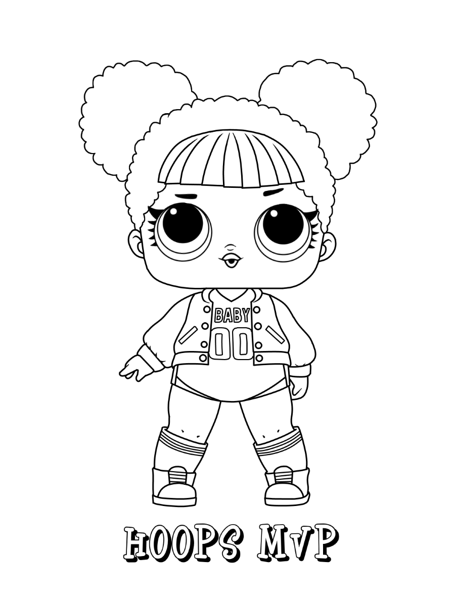 Cozy Lol Coloring Pages Lil Queen And Lil Sugar Queen Free
