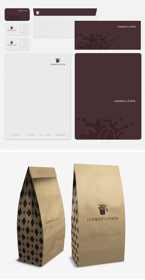 Corporate Identity u2013 55 examples of amazing Corporate Designs - packaging slips