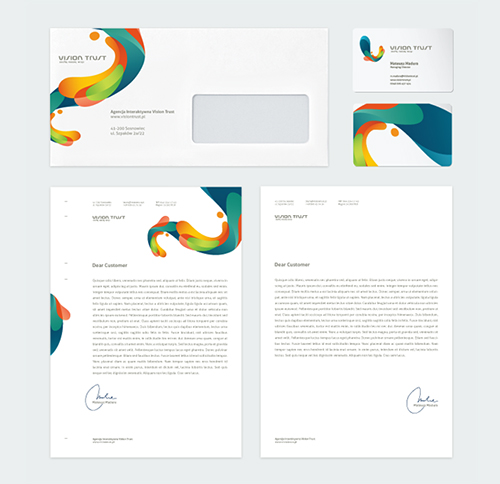 Corporate Identity u2013 55 examples of amazing Corporate Designs - notebook paper word template