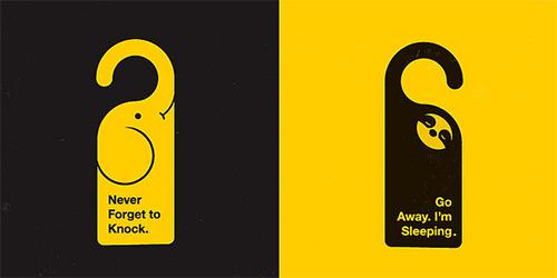 30 awesome door hanger designs print24 Blog