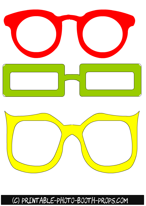 Large Frame Round Glasses 23 Free Printable Summer Photo Booth Props