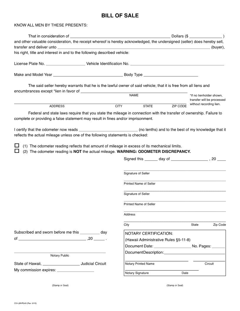 Georgia Bill Of Sale Form Requirements Dmvorg Free Hawaii Vehicle Bill Of Sale Form Download Pdf Word