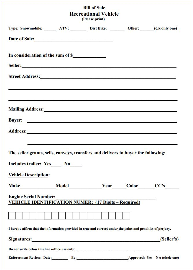 auto bill of sales form free - Goalgoodwinmetals - Printable Bill Of Sale