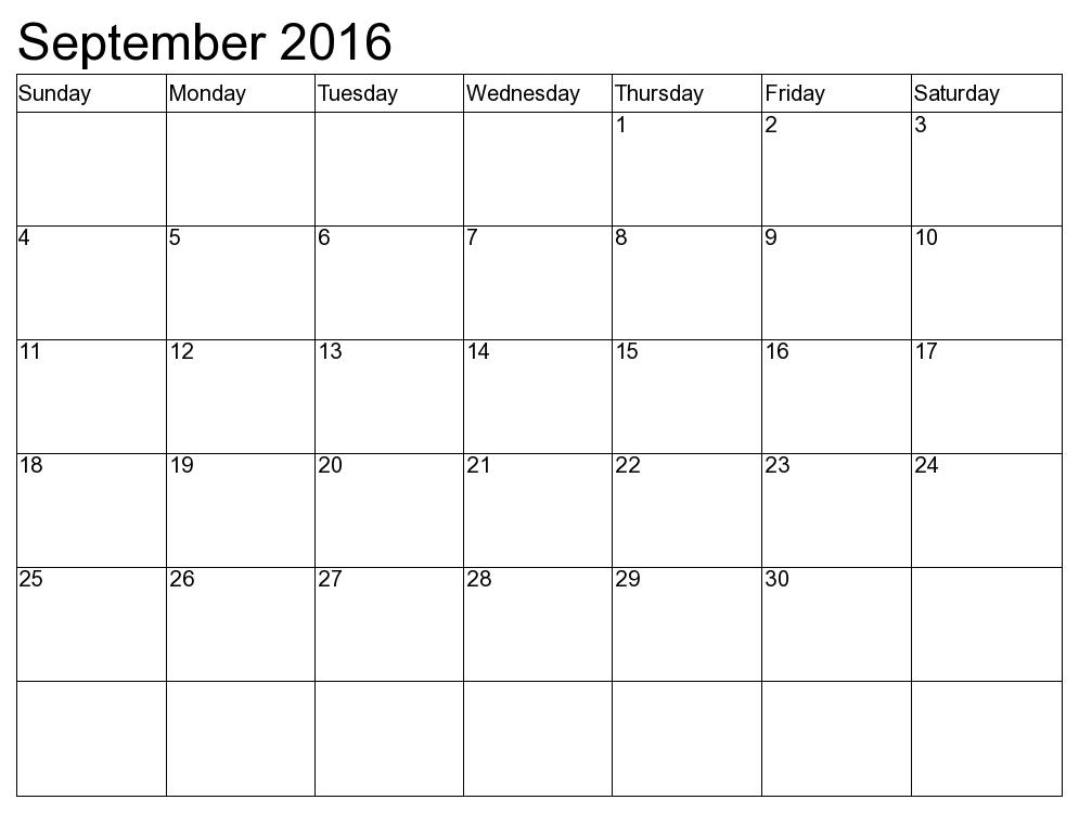 september 2018 printable calendar