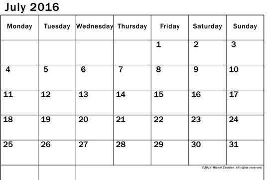 monday to sunday calendar - Josemulinohouse - monday sunday calendar