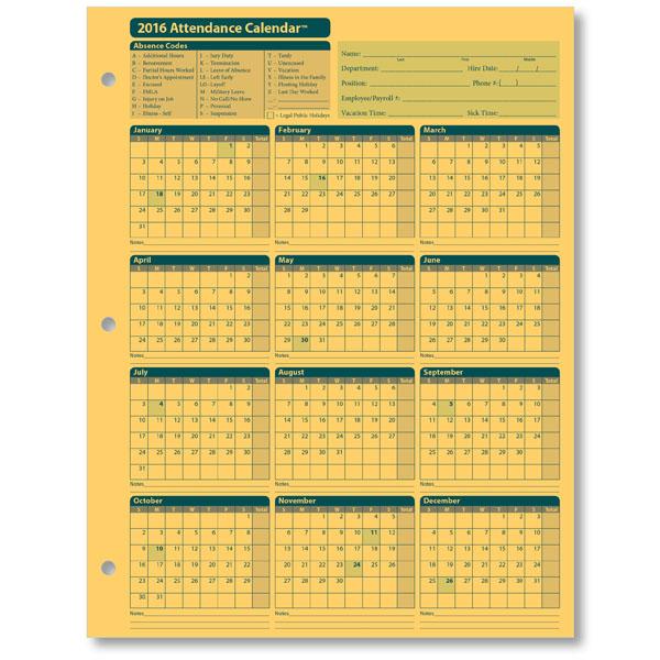 Attendance Planner Attendance Planner- Screenshot Attendance - attendance calendar template