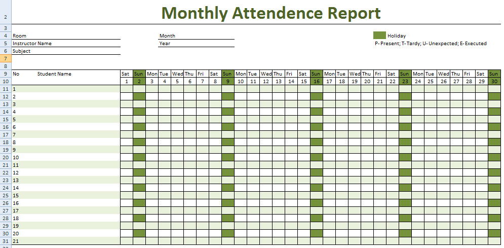 monthly attendance sheet for employees koni polycode co