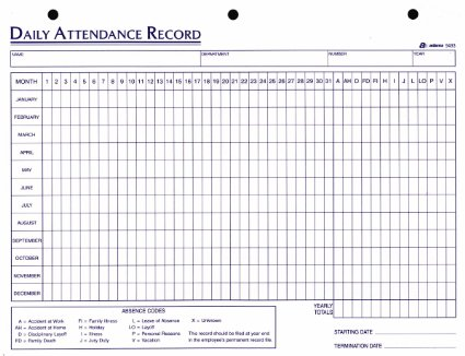 employee attendance log - Towerssconstruction