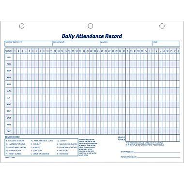 Attendance Calendar Template Daily Attendance Calendar Employee - attendance calendar template